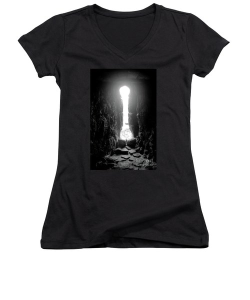 Keyhole Window Women's V-Neck T-Shirt