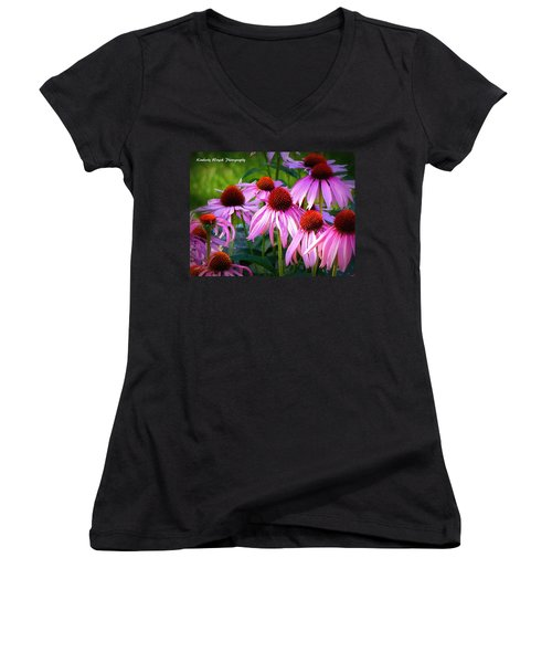 Kissed By Sunlight Women's V-Neck (Athletic Fit)