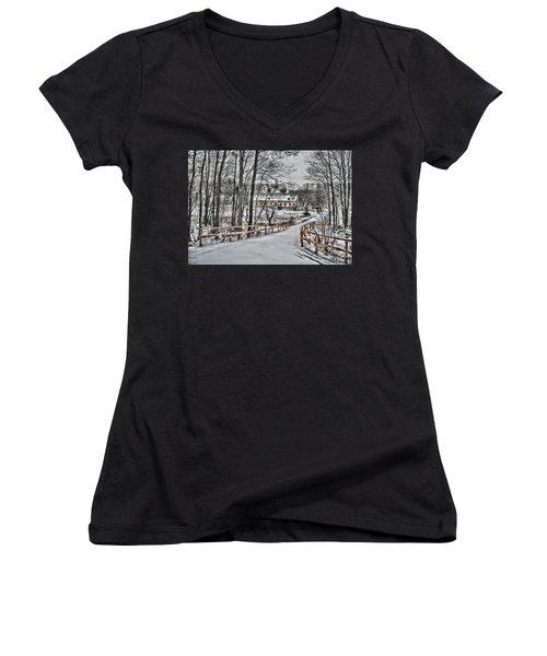 Women's V-Neck T-Shirt (Junior Cut) featuring the photograph Kloster St. Anna  by Gabriella Weninger - David
