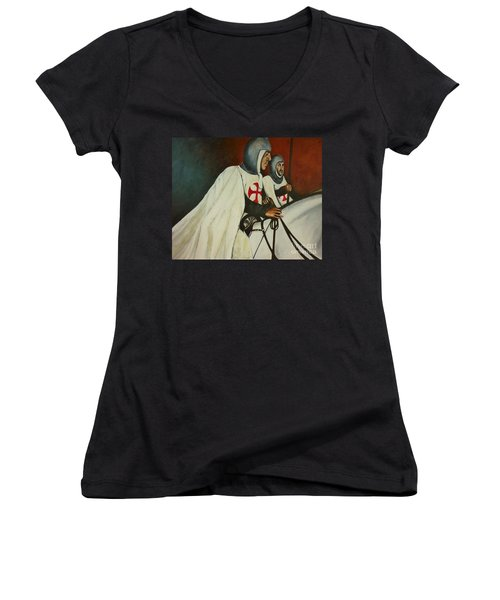 Knights Of Tomar Women's V-Neck T-Shirt