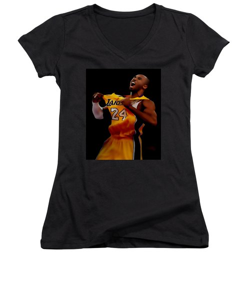 Kobe Bryant Sweet Victory Women's V-Neck T-Shirt