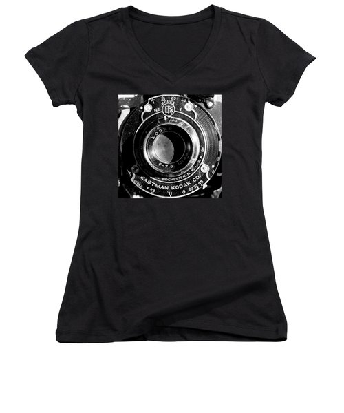 Kodak Brownie 2 Women's V-Neck T-Shirt