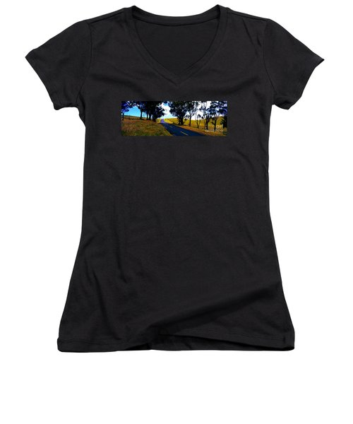 Kohala Mountain Road  Big Island Hawaii  Women's V-Neck