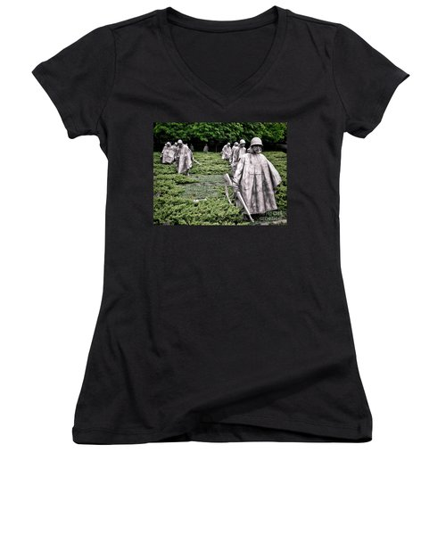 Korean War Veterans Memorial Women's V-Neck (Athletic Fit)