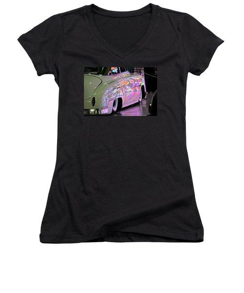 Kustom Neon Reflections Women's V-Neck