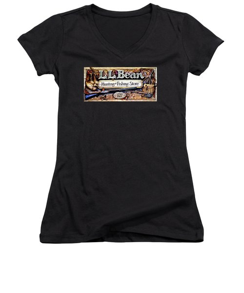 L. L. Bean Hunting And Fishing Store Since 1912 Women's V-Neck T-Shirt