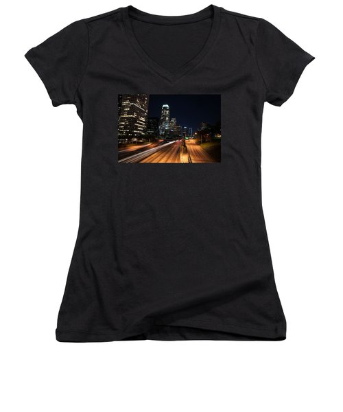 La Down Town Women's V-Neck