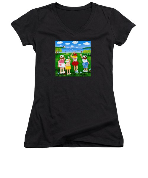 Ladies League Door County Women's V-Neck T-Shirt