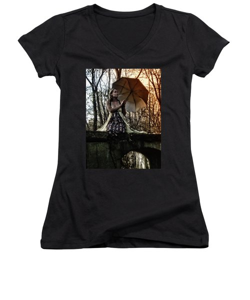 Lady Rain Women's V-Neck T-Shirt