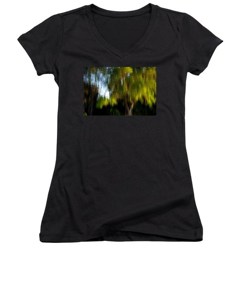 Lake In Green Women's V-Neck (Athletic Fit)