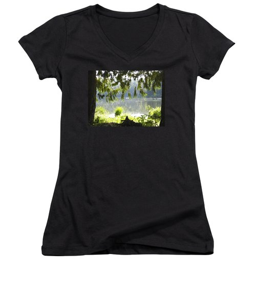 Lake Of Dreams Women's V-Neck T-Shirt