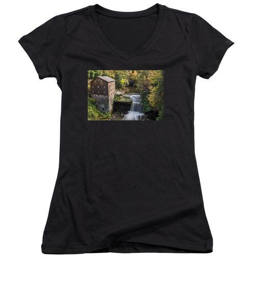Women's V-Neck featuring the photograph Lantermans Mill by Dale Kincaid