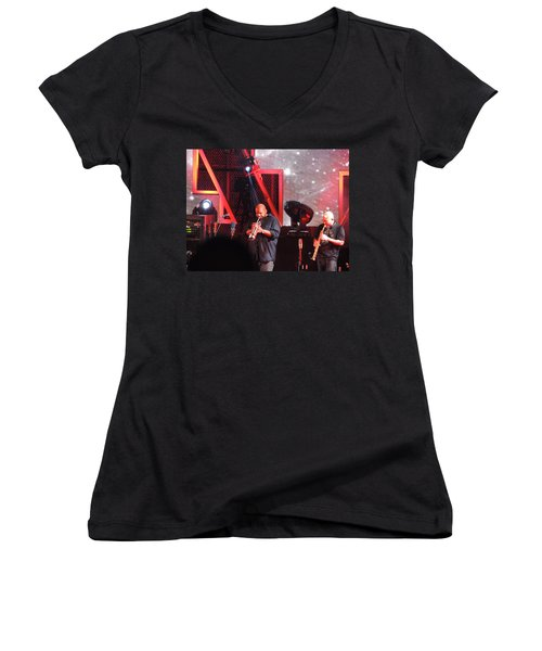 Women's V-Neck T-Shirt (Junior Cut) featuring the photograph Lashawn Ross And Jeff Coffen by Aaron Martens