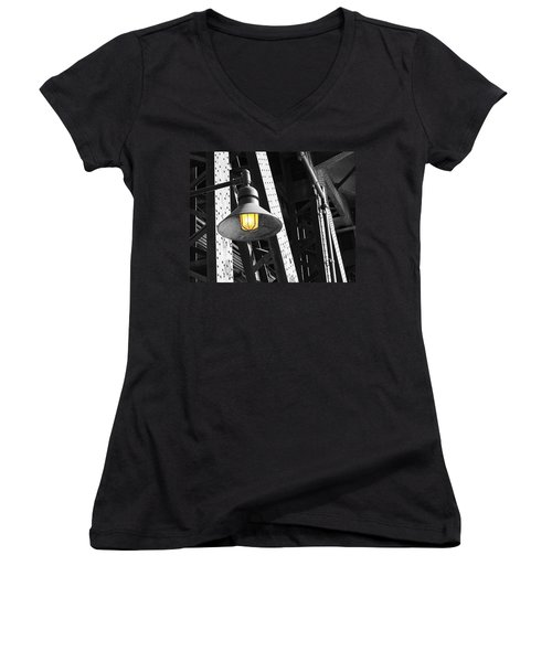 Women's V-Neck T-Shirt (Junior Cut) featuring the photograph Last Hope by Patricia Babbitt