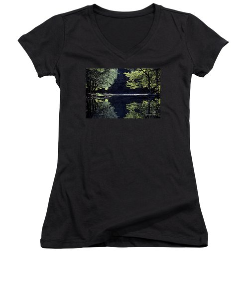 Late Afternoon Reflection Women's V-Neck T-Shirt