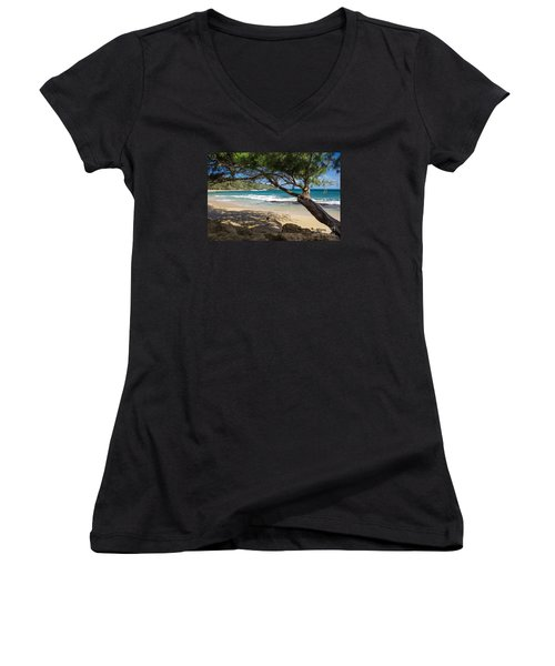 Lazy Day At The Beach Women's V-Neck T-Shirt
