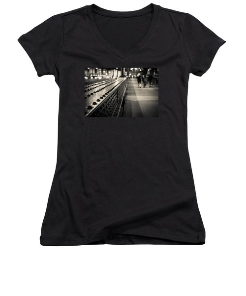 Leading Across Women's V-Neck T-Shirt (Junior Cut) by Melinda Ledsome