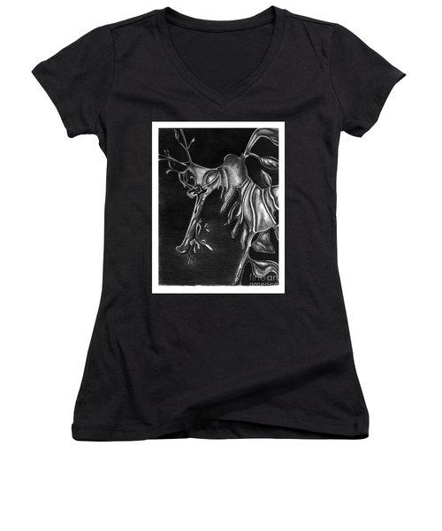 Leafy Sea Dragon Women's V-Neck T-Shirt