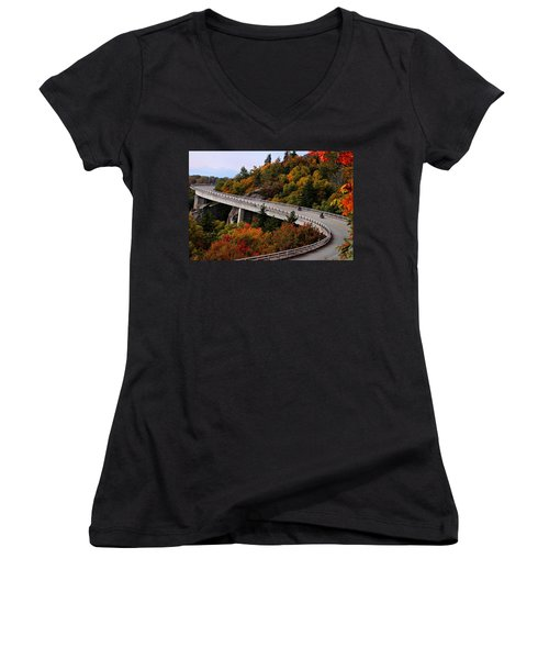 Lean In For A Ride Women's V-Neck