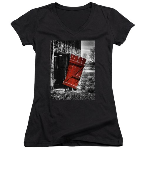Leave The Door Open Women's V-Neck T-Shirt