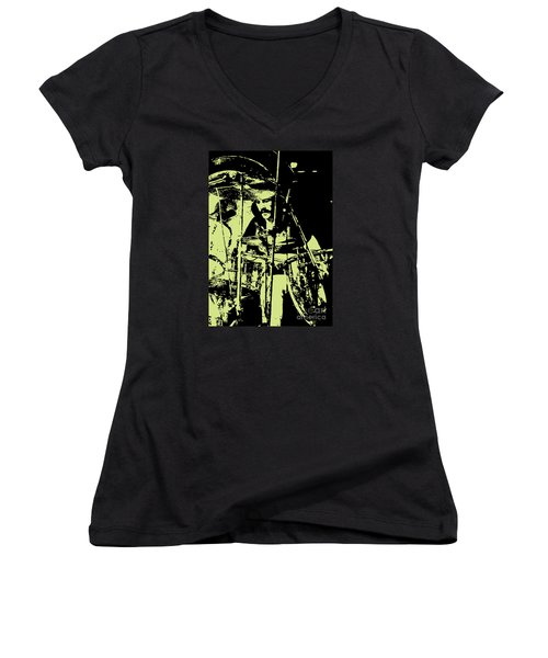 Led Zeppelin No.05 Women's V-Neck T-Shirt (Junior Cut) by Caio Caldas