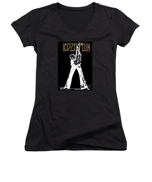 Led Zeppelin No.06 Women's V-Neck (Athletic Fit)