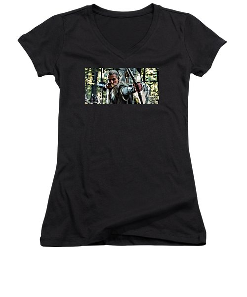 Legolas Women's V-Neck T-Shirt (Junior Cut) by Florian Rodarte
