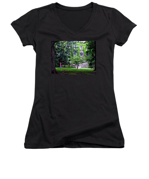 Lehigh University Campus Women's V-Neck T-Shirt