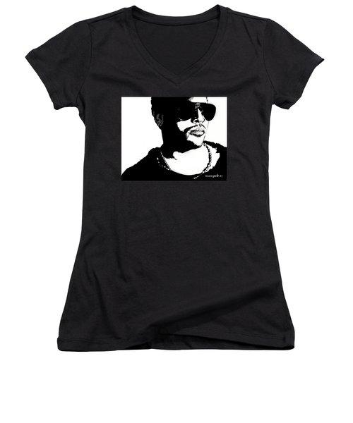 Lenny Kravitz Women's V-Neck T-Shirt
