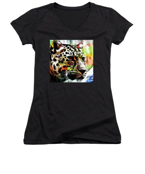 Leopard - Leopardo Women's V-Neck (Athletic Fit)