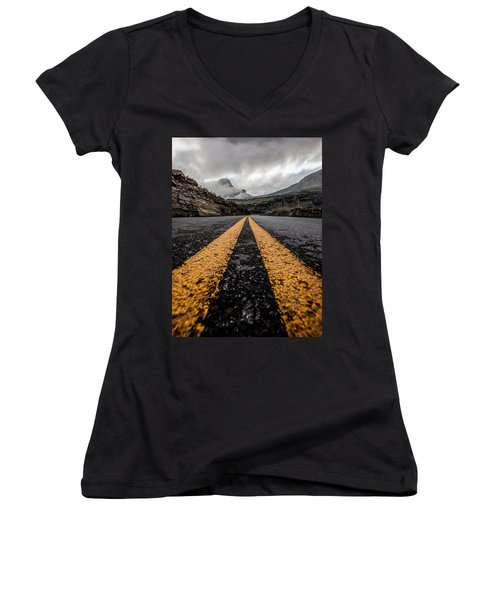Less Traveled Women's V-Neck T-Shirt