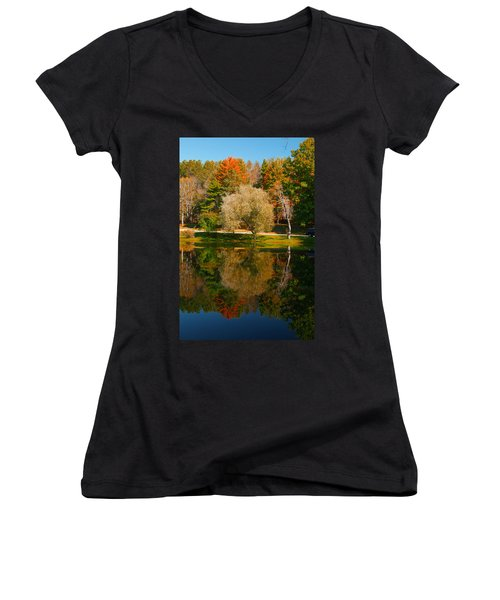 Letchworth Autumn Reflections Women's V-Neck T-Shirt