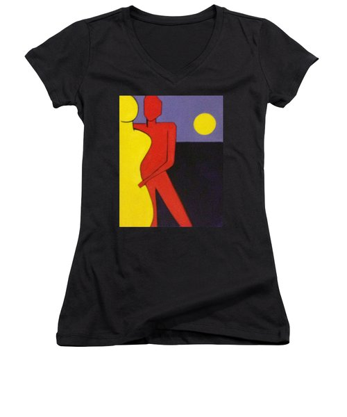 Let's Dance Women's V-Neck T-Shirt (Junior Cut)