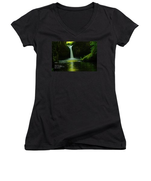 Letting The Calm Women's V-Neck (Athletic Fit)