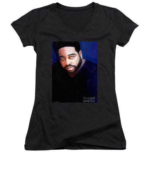 Levert Women's V-Neck T-Shirt (Junior Cut) by Vannetta Ferguson