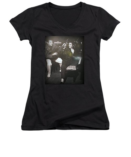 Liberace And Elvis Women's V-Neck (Athletic Fit)