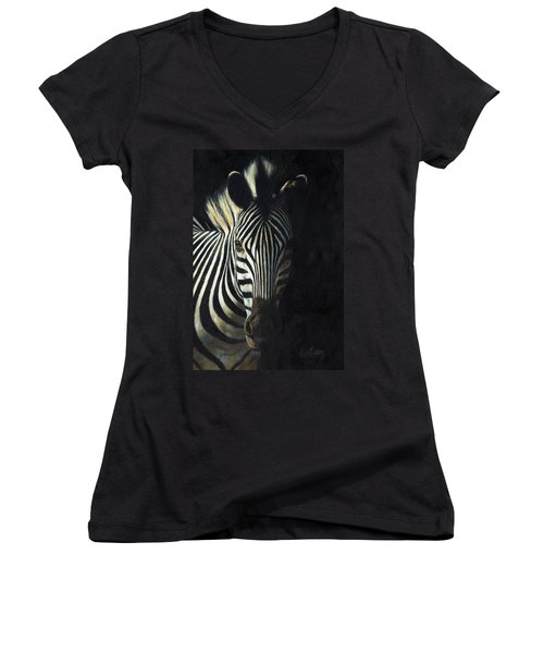 Light And Shade Women's V-Neck T-Shirt