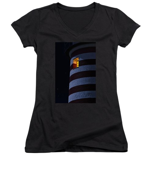 Women's V-Neck T-Shirt (Junior Cut) featuring the photograph Light From Within by Marty Saccone