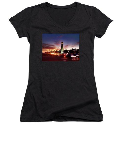 Light House Women's V-Neck T-Shirt