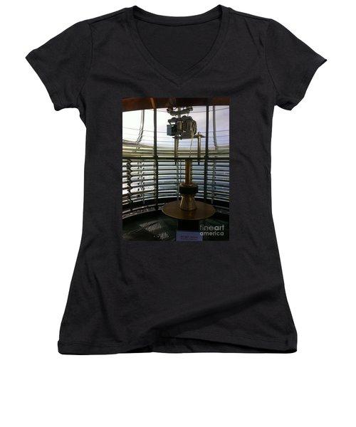 Light House Lamp Women's V-Neck T-Shirt (Junior Cut) by Susan Garren