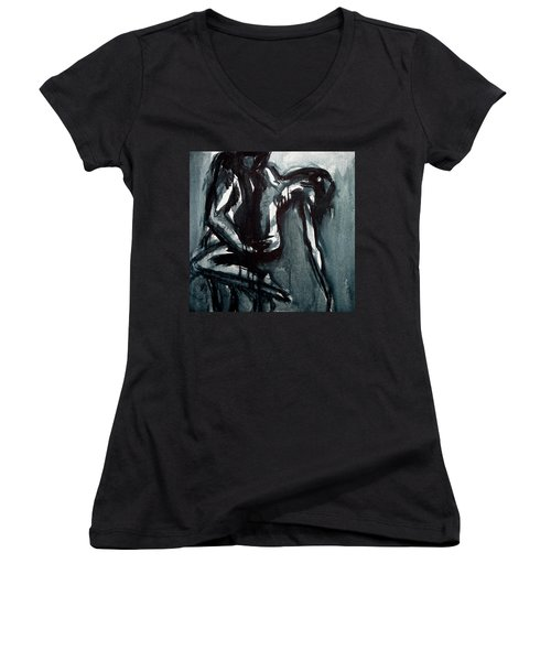 Light In The Darkness Women's V-Neck T-Shirt (Junior Cut) by Jarmo Korhonen aka Jarko