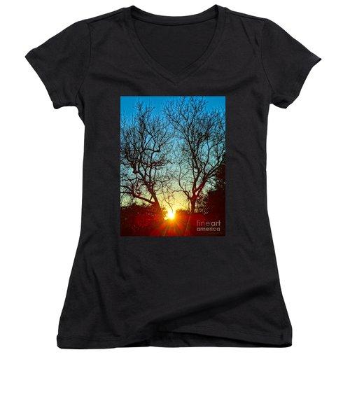 Light Sanctuary Women's V-Neck T-Shirt (Junior Cut) by Gem S Visionary