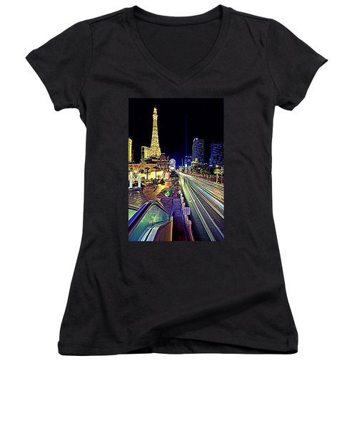 Light Speed Vegas Women's V-Neck (Athletic Fit)