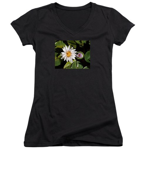 Lily Flowers Women's V-Neck (Athletic Fit)