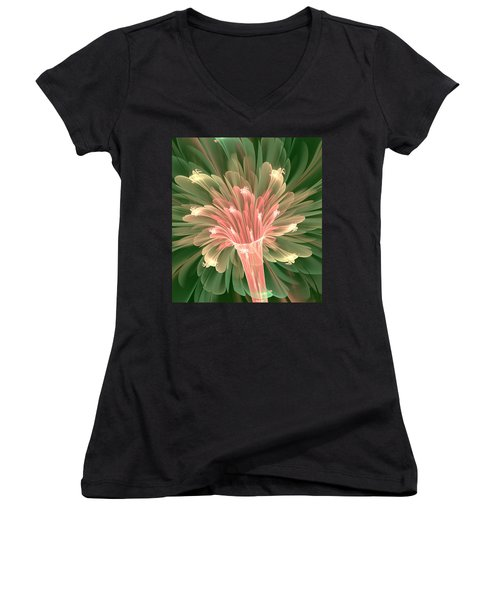 Lily In Bloom Women's V-Neck (Athletic Fit)