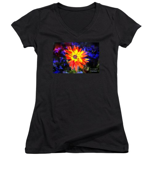 Lily In Vivd Colors Women's V-Neck T-Shirt