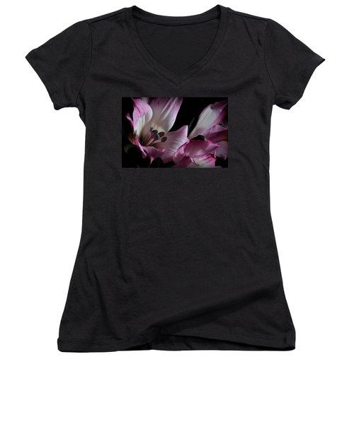 Lily Of The Incas Women's V-Neck T-Shirt (Junior Cut) by Joe Kozlowski