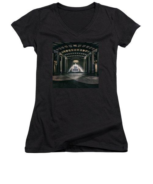 Lincoln Memorial Women's V-Neck (Athletic Fit)