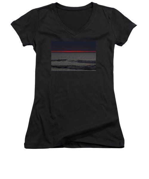 Line Of Fire Women's V-Neck (Athletic Fit)