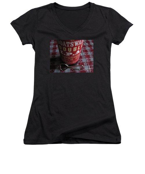 Women's V-Neck T-Shirt (Junior Cut) featuring the photograph Liquid Gold by Michael Krek